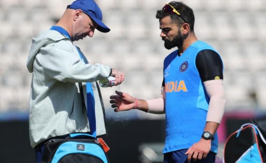 भारतीय कप्तान विराट कोहली के अंगूठे पर लगी चोट गहरी नहीं