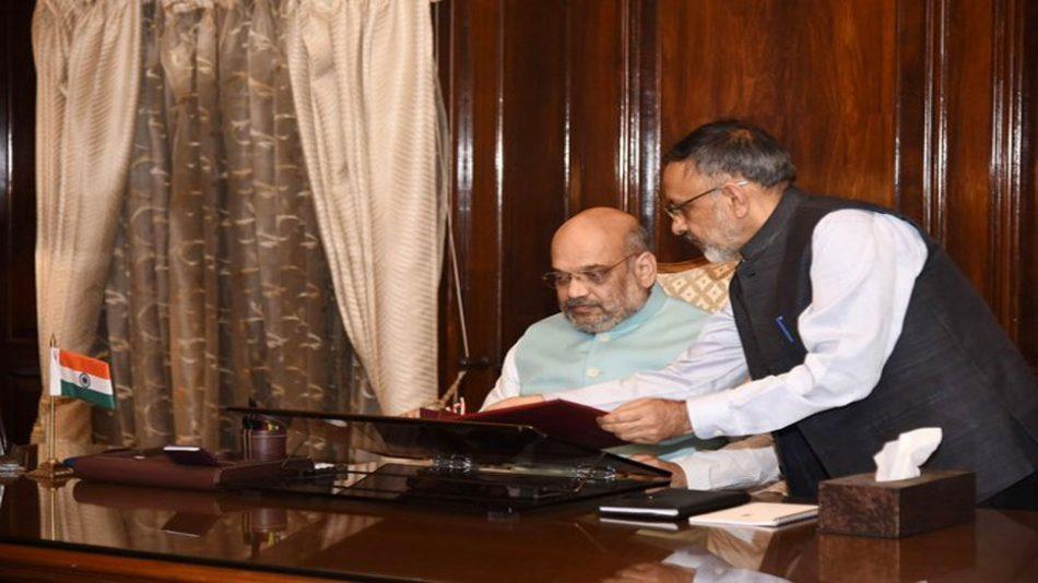 अमित शाह ने कश्मीर और पूर्वोत्तर के मुद्दे पर विस्तृत बैठकें कीं
