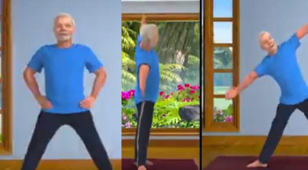 मोदी ने एनिमेटेड त्रिकोणासन वीडियो पोस्ट किया, इसे आदत बनाने की दी सलाह
