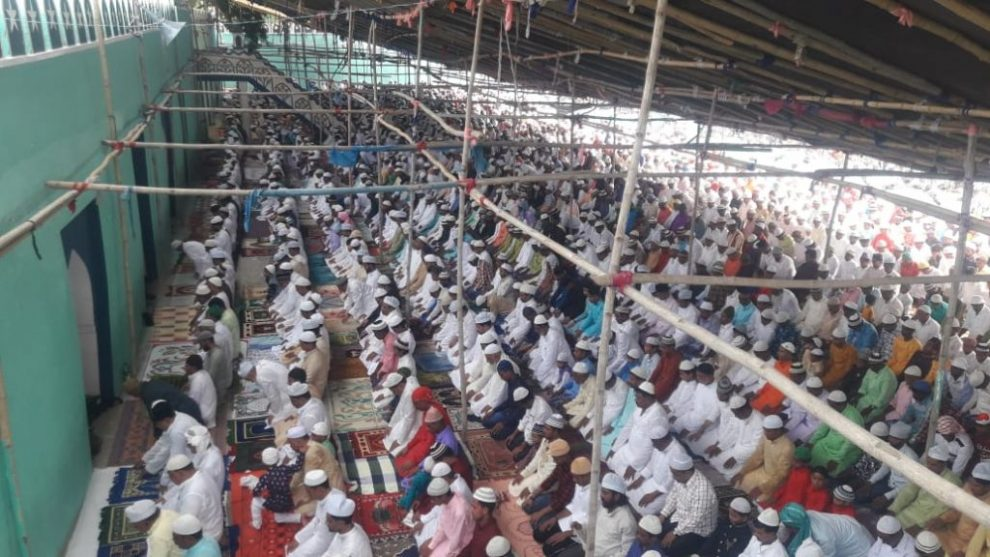 पूरे देश के साथ राज्य के विभिन्न स्थानों में हर्षोल्लास से मनी ईद