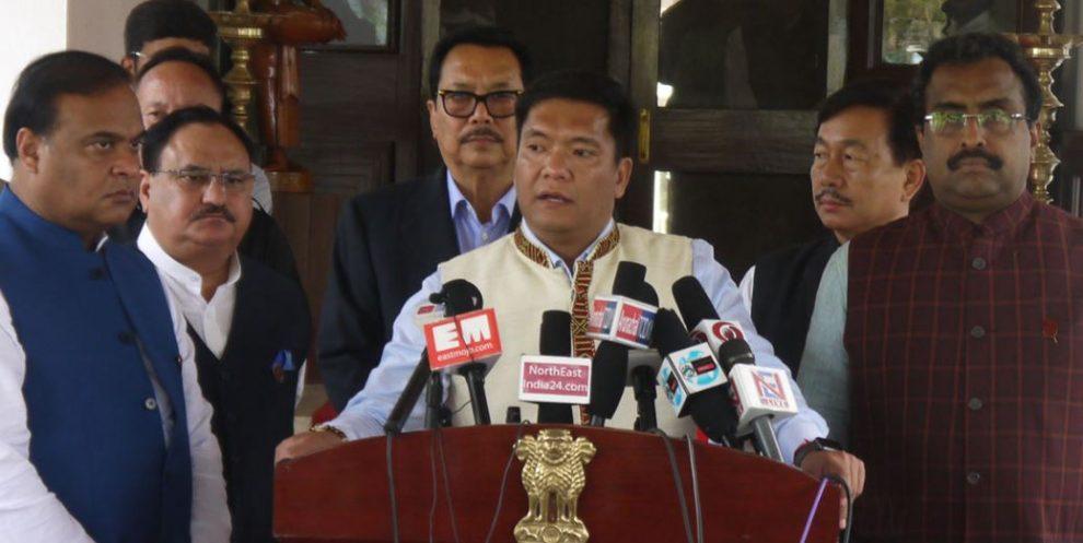 एनपीपी ने खांडू नेतृत्वाधीन राज्य सरकार और उनके मंत्रिमंडल की सराहना की