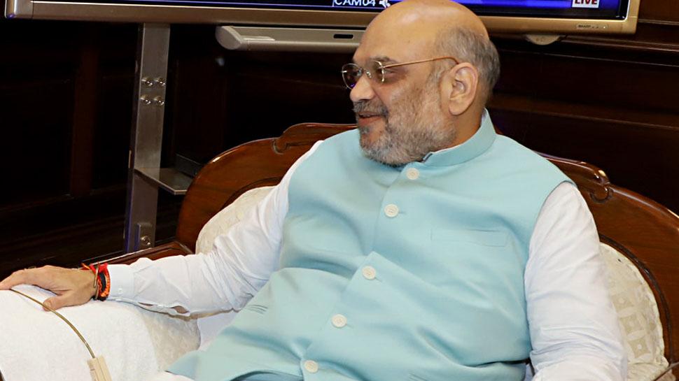 अमित शाह ने आंतरिक सुरक्षा नक्सली मुद्दे पर बैठक की