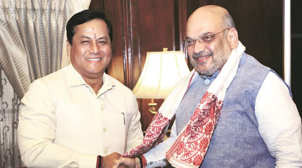 शाह, राजनाथ और पोखरियाल  से मिले मुख्यमंत्री सर्वानंद सोनोवाल राज्य के प्रमुख मसलों पर हुई चर्चा