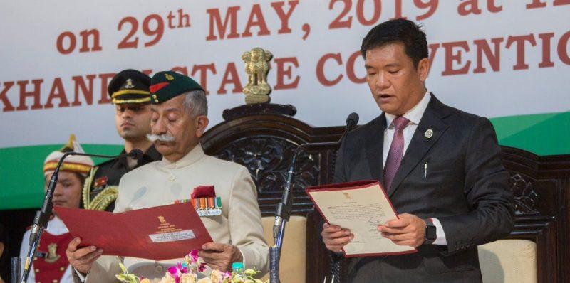पेमा खांडू ने अरुणाचल प्रदेश के मुख्यमंत्री पद की शपथ ली