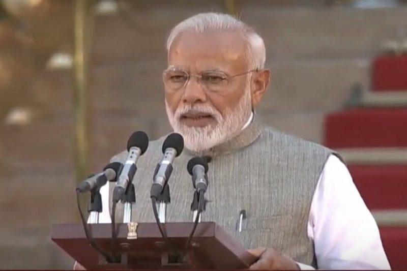 नरेंद्र मोदी दूसरी बार बने प्रधानमंत्री, राष्ट्रपति भवन में लिया प्रधानमंत्री पद की शपथ